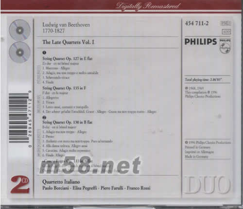 晚期弦乐四重奏全集 PHILIPS系列 图片展示 Beethoven 贝多芬