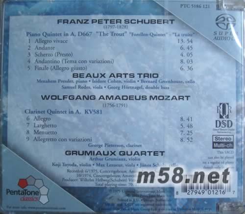 """舒伯特:""""鳟鱼""""重奏&莫扎特单簧管五重奏 sacd 图片展示"""