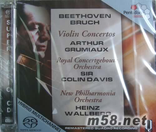 贝多芬 D大调小提琴协奏曲电器布鲁赫小提琴协奏曲 SACD 价格 图片