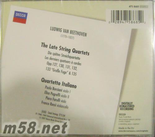 贝多芬:后期弦乐四重奏